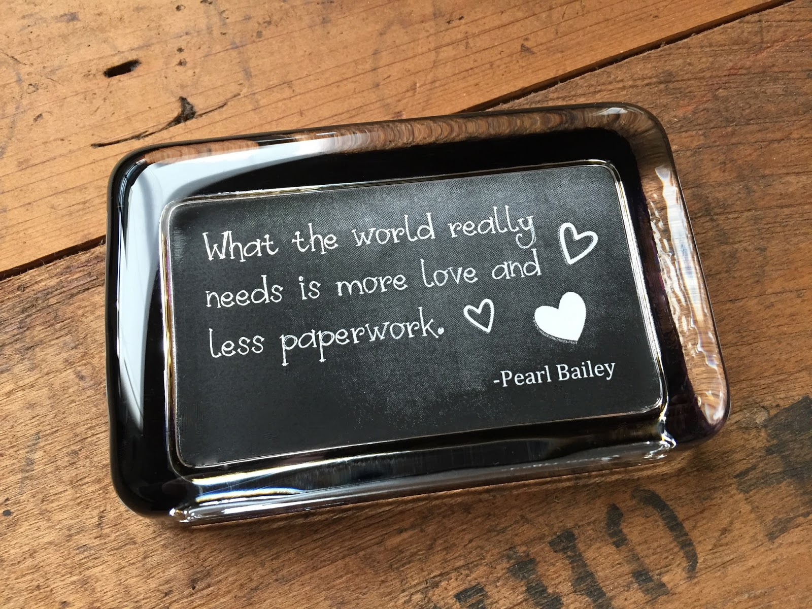 Personalizing Paperweights with Text: Chalkboard Background & Fonts