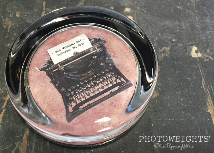Vintage Typewriter Paperweight with a Tiny, Typed Message