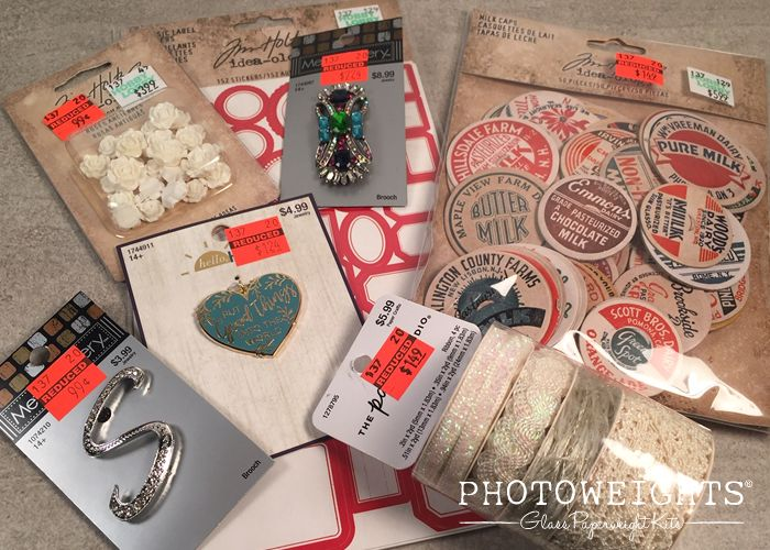 Finding Craft Store Bargains for Your Paperweight Designs