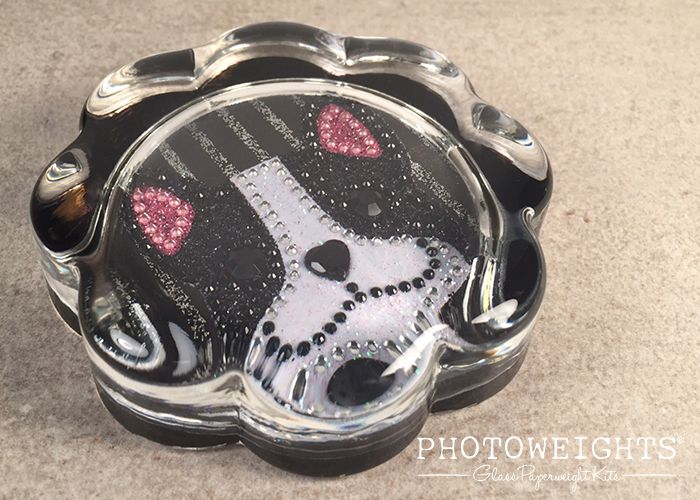 Glitzy French Bulldog Paperweight