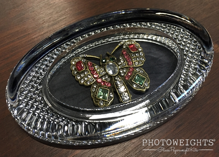Displaying Costume Jewelry Within a Glass Paperweight