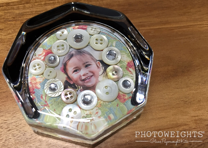Framing a Photo with Buttons and Rhinestones
